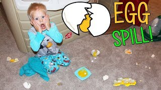Download Bad Baby GROSS Raw Egg Mess Video