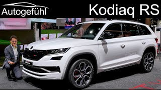 Download Skoda Kodiaq RS - the sportiest and most expensive Skoda SUV vRS REVIEW - Autogefühl Video
