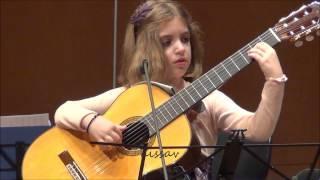 Download Amazing 7-Year-Old girl Guitarist - Konstantina Andritsou performs @ Megaro (Athens) HD Video