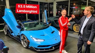 Download SPOILED 16 YR OLD GIRL GETS KEYS TO LAMBORGHINI CENTENARIO!! Video
