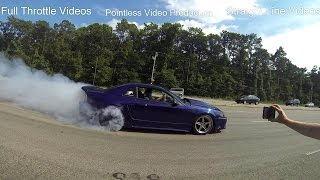 Download Mustang week 2014 crazy rolling burnout and crash Video