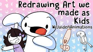 Download Redrawing Art we made as Kids w/JaidenAnimations Video
