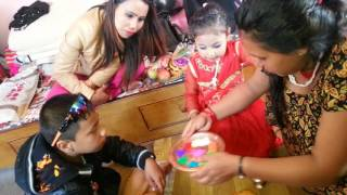 Download Celebrating bhaitika with sis and brother Video