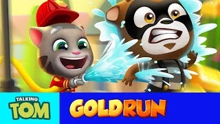 Download Talking Tom Gold Run - Fireman Tom to the Rescue! (New Update) Video