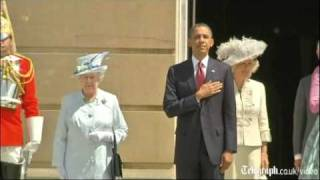Download Queen greets Barack and Michelle Obama with 41-gun salute on first day of state visit to UK Video