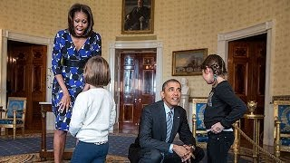 Download The President & The First Lady Surprise Visitors on White House Tours Video