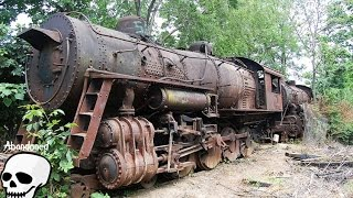 Download Abandoned trains. Old abandoned steam engine trains in USA. Abandoned steam locomotives Video