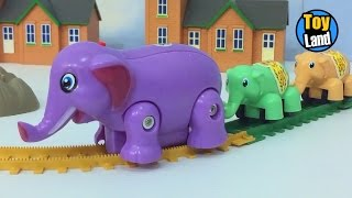 Download Elephant Train Toy for Children Videos For Kids TRAIN TRACK SET Video