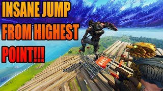 Download RAMPING OFF MAP FROM HIGHEST POINT WITH SHOPPING CART! FORTNITE BATTLE ROYALE Video