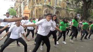 Download Flash Mob at CHATRAPATI SHIVAJI TERMINUS (C.S.T.) by ENTOURAGE 2015,JAIHIND COLLEGE. Video