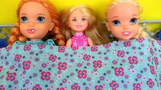Download SLEEPOVER ! ELSA & ANNA toddlers - Chelsea Barbie Video