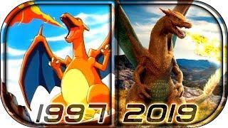 Download EVOLUTION of CHARIZARD 🔥in Movies Cartoons TV (1997-2019) Pokemon Detective Pikachu charizard scene Video