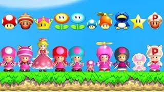 Download New Super Mario Bros. U Deluxe - All Toadette Power-Ups Video
