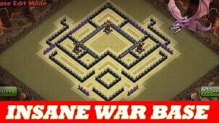 Download INSANE TH8 WAR BASE   ANTI AIR /DRAG ANTI HOG   2 DEFENSIVE REPLAYS   Clash Of Clans Video