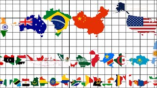 Download Country Size Comparison (All 195 Flag Map Ranking) Video