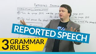 Download 3 Grammar Rules for REPORTED SPEECH Video