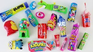 Download Mixing crazy candy, candy dispensers, mixing candy slime Video