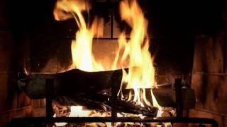 Download Beautiful Wood-burning Fireplace Yule Log Video Video