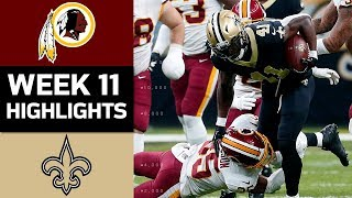 Download Redskins vs. Saints | NFL Week 11 Game Highlights Video