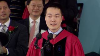 Download Graduate Speaker Jiang He | Harvard Commencement 2016 Video