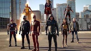 Download DC Comics TV Crossover Final Fight. Flash, Supergirl, Arrow, Firestorm, Atom against the Dominators Video