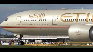 Download Etihad Airways Boeing 777-300ER ● Landing & Takeoff at Melbourne Airport Video