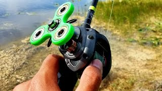 Download DIY Fidget Spinner Fishing Reel Catches Fish!!! (FISHING CHALLENGE) Video