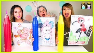 Download Giant 3 Markers Challenge Switch Up Disney Pixar Incredibles 2 Video