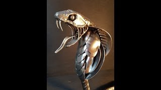 Download I BUILT A KING COBRA SNAKE SCULPTURE FROM WELDING RECYCLED SCRAP METAL Video