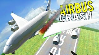 Download SUPER JUMBO JET WING RIPPED OFF WHILE FLYING! Airbus A380 Destruction - Disassembly 3D Gameplay Video