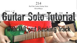 Download 214 (RiverMaya) Guitar Solo Tutorial | with TAB and Backing Track | 10k subs special Video