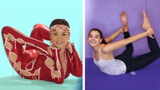 Download Gymnasts Try Contortion for the First Time Video
