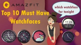 AMAZFIT NEW BEST WATCH FACES in ROM 1 2 11c Free Download Video MP4