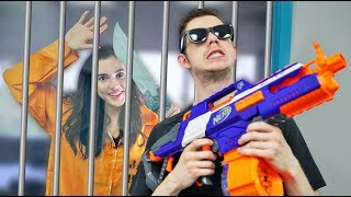 Download NERF Robot Prison Escape Challenge! Video