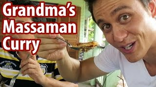 Download Grandma's Massaman Curry in Ayutthaya | Food Travel Vlog 4 Video