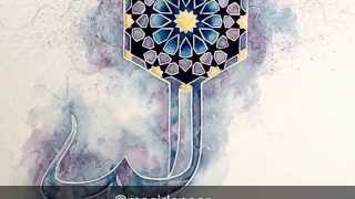 Download Islamic art - watercolour speed painting - geometry pattern and Arabic Calligraphy Video