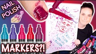 Download Nail Polish MARKERS?! Don't draw my life Video