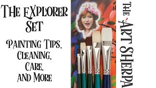 Download The Art Sherpa Explorer Set brushes Painting Tips Care and Cleaning Video