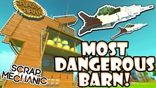 Download Scrap Mechanic CREATIONS! - MOST DANGEROUS BARN!! [#24] W/AshDubh | Gameplay | Video
