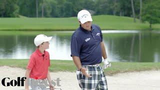 Download Patrick Reed Battles 10-Year-Old Phenom Bowen Ballis in 5-Round Golf Challenge | Golf Digest Video