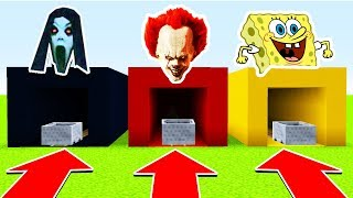 Download DO NOT CHOOSE THE WRONG MINECART (SLENDRINA, PENNYWISE, SPONEGBOB)(Ps3/Xbox360/PS4/XboxOne/PE/MCPE) Video