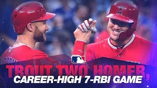 Download Trout crushes slam in 2-homer, 7-RBI win Video