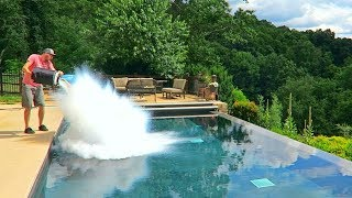 Download What Happens If You put 30L of Liquid Nitrogen in the Pool? Video