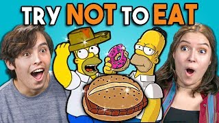 Download Try Not To Eat Challenge - Simpsons Food | People Vs. Food Video