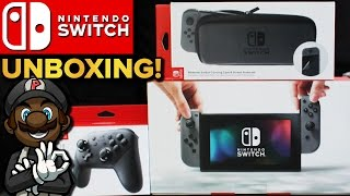 Download Nintendo Switch Unboxing! Pro Controller, Carrying Case & Breath of the Wild Guide Video