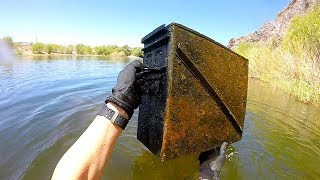Download River Treasure: I Found a Metal Box Underwater in the River! (Unexplained) Video