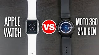 Download Moto 360 2nd Gen vs Apple Watch - Smart Watch Comparison Video