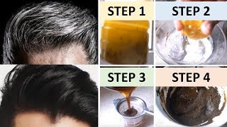 Download APPLY ONLY 1 TIME AND TURN WHITE HAIR TO BLACK INSTANTLY 100% WORKS || Natural Home Remedies Video