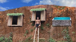 Download Dig the cliff to build shower tank and undergroud hut system to avoid wildlife Video