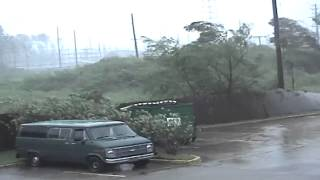Download Found footage as the eyewall of Hurricane Katrina strikes Gulfport Video